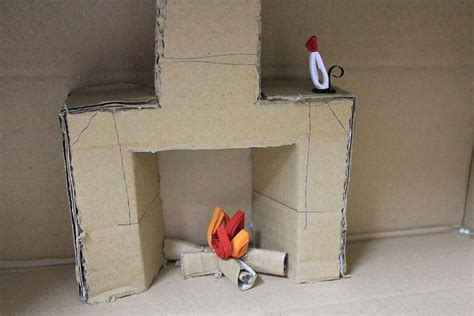 cardboard fireplace for cardboard fireplace scouts