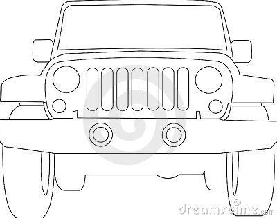 jeep wrangler front drawing jeep clip royalty free stock image jeep