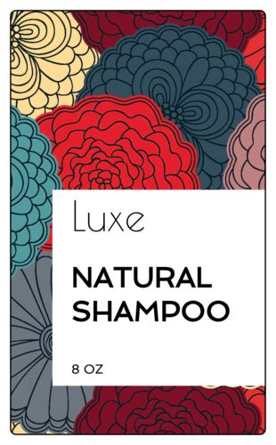 floral shampoo bottle labels templates onlinelabelscom