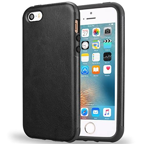 Iphone 5 Premium Backcase Look Leather Tpu iphone se tendlin protection premium leather