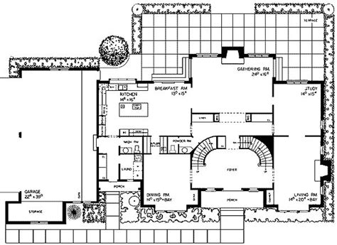 grand staircase 80426pm architectural designs house floor plan with grand staircase staircase gallery