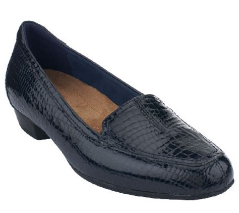 qvc clarks shoes clarks artisan everyday patent leather slip on shoes