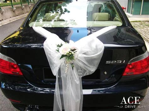 BMW 523i Saloon Wedding Car Decorations