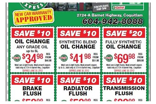 castrol oil change coupon kennesaw