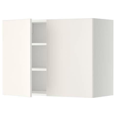 ikea cabinet shelf metod wall cabinet with shelves 2 doors white veddinge white 80x60 cm ikea