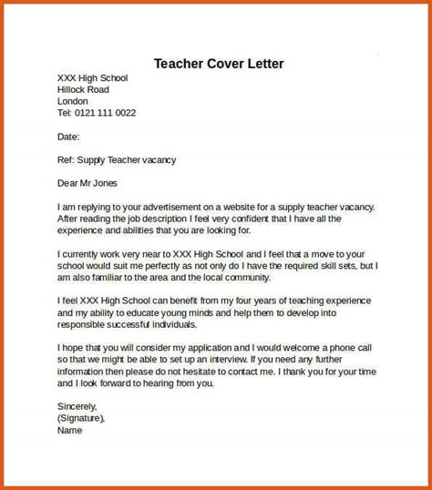Teaching Cover Letter In Kenya Teaching Cover Letter General Resumes