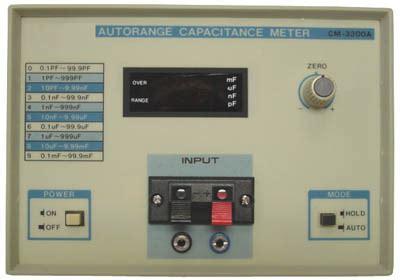 capacitance meter specifications auto range capacitance meter cm 3300a