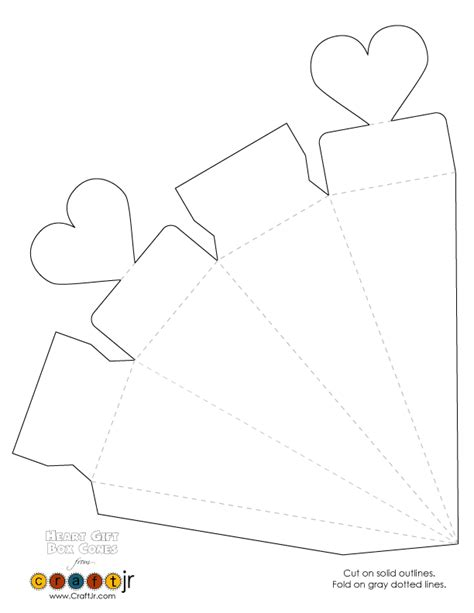 templates for favour boxes wedding favor valentine s day heart gift box cones heart
