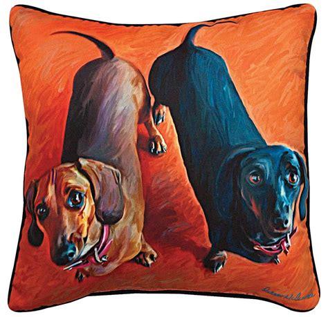 artistic pillows dachshund artistic throw pillow 18x18 quot