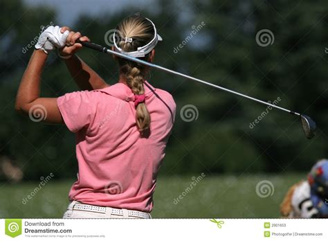 lady swings lady golf swing stock photos image 2901653