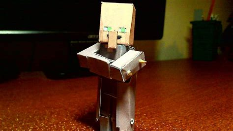 Minecraft Papercraft Tutorial - how to make a bendable creeper minecraft papercraft