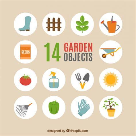oggetti per giardino oggetti da giardino scaricare vettori gratis