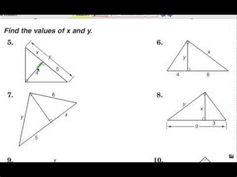 viewer challenge: geometric means & right triangles 1