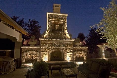outdoor fireplaces with lights burr ridge fireplace down light fireplace up lighting on