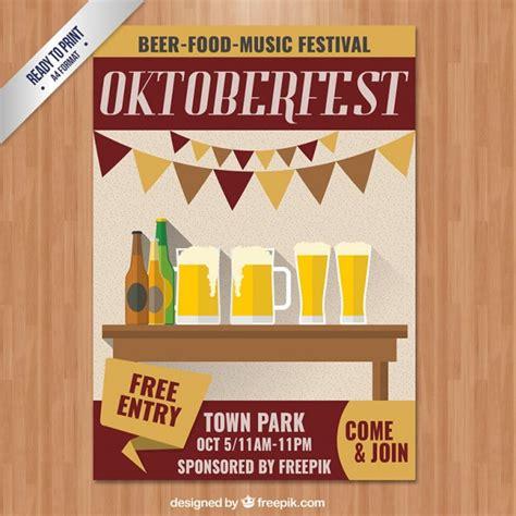 Kostenlose Vorlage Einladung Oktoberfest Oktoberfest Plakat Einladung Der Kostenlosen Vektor