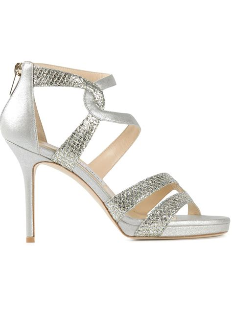jimmy choo gold sandals jimmy choo tomar sandals in gold metallic lyst