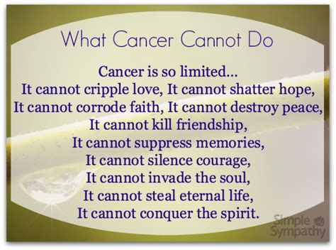 words of comfort for terminal cancer patients sympathy poems