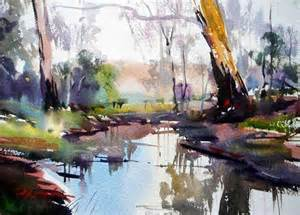 the watercolour log landscape paintings i like
