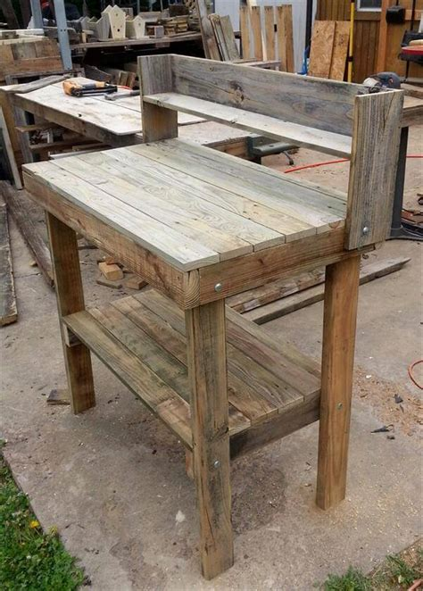 pallet potting bench rustic pallet potting bench pallet furniture diy