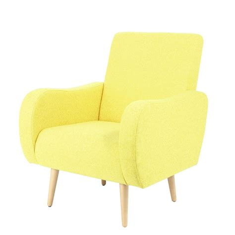 yellow armchairs fabric vintage armchair in heather yellow waves maisons