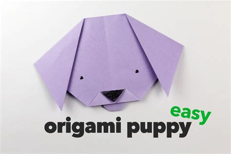 How To Make An Origami Puppy - easy origami puppy