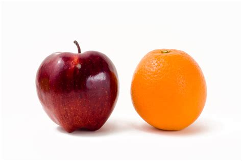 Comparing Apples To Oranges by Comparisons Evan Roth Executive Coach