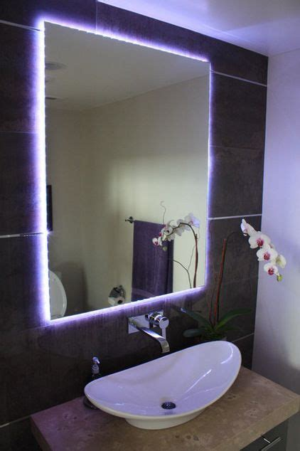 led strip lights for bathroom mirrors creative lighting with led light strips changing strips trace the outline of this