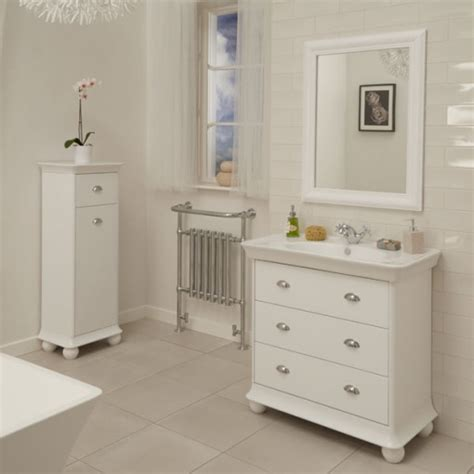 Valencia White 900mm 3 Drawer Vanity Unit Valencia Bathroom Furniture