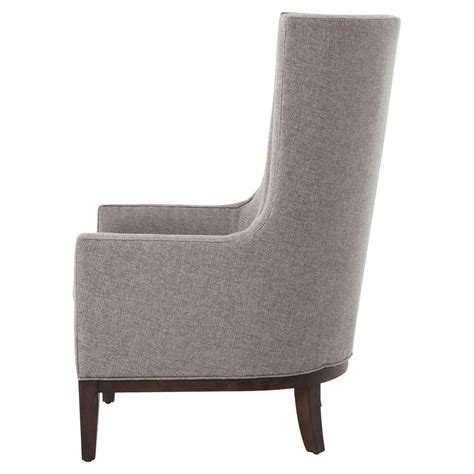 modern fabric armchair vida modern classic pewter grey fabric wing armchair kathy kuo home