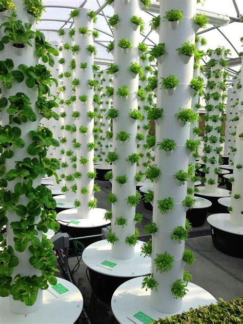 diy vertical garden tower greenhouse gardening