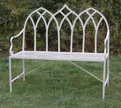 3ft garden bench gothic 1 03m 3ft 4 189 ins steel bench 163 124 99