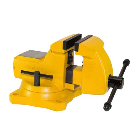 home depot bench vise bessey 6 in heavy duty bench vise with swivel base bv
