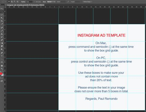 Instagram Ad Template Instagram Ads Template Paulramondo Com