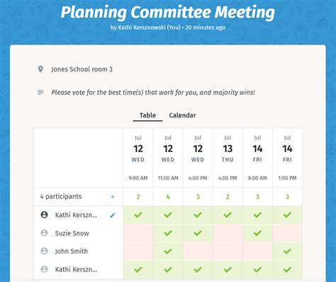 doodle poll not working schedule meetings with consideration for your team with