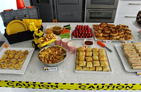 themed party food ideas construction themed party foods google search liam