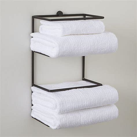 wall mounted bathroom towel rack jackson wall mount towel rack crate and barrel