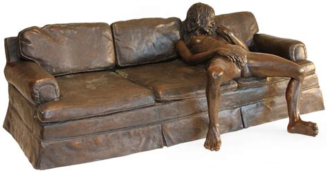 y on the couch on the couch artist leslie stefanson sculpture