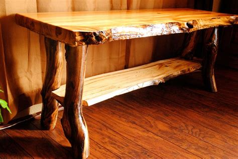 handcrafted log living room furnishings