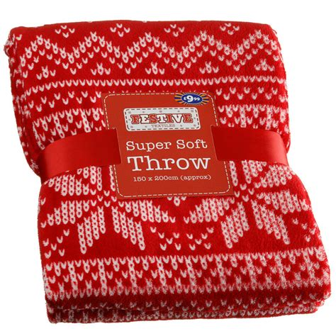 super soft christmas throw snowflakes soft furnishings