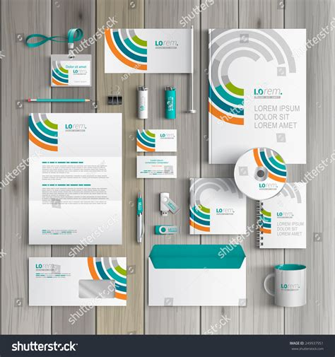 Corporate Design Vorlagen Psd White Corporate Identity Template Design Stock Vector 249937951