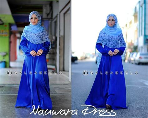 Gamis Fashion Turkez Maron by Muslimah Royal Blue Dress Gamis Blue