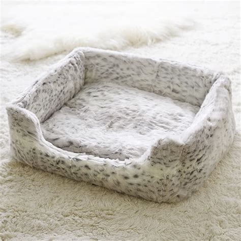 faux fur dog bed faux fur pet bed grey leopard pbteen