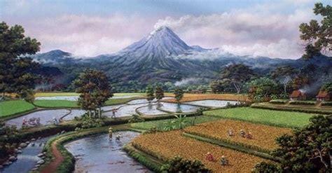 Lukisan Pemandangan Pegunungan 50 lukisan pemandangan alam gunung laut dan pantai indah