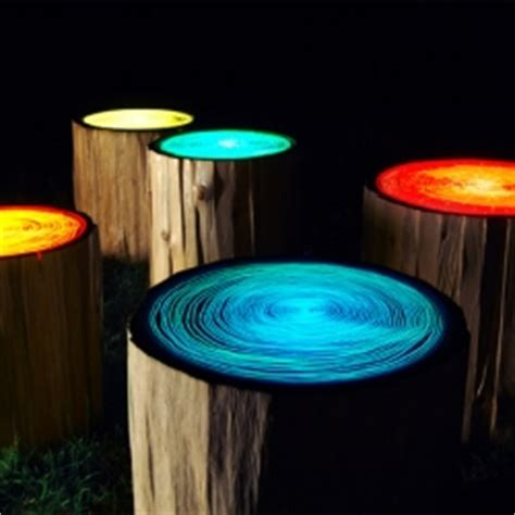 Funky Outdoor Lighting These Funky Tree Ring Lights Are Designed By Judson Beaumont Of Line Designs A