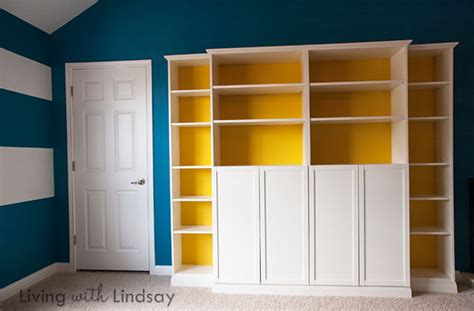 Billy Bookcase Built In With Doors How To Use A Quot Built In Quot Billy Bookcase To Hide An Eyesore Via Makelyhome