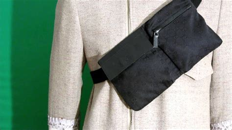 Waist Bag Gucci Nagita 7735 Mc black monogram gucci belt bag