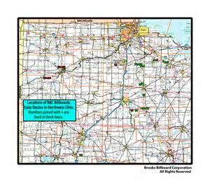 Northwest Ohio Map by Brooks Billboard Maps