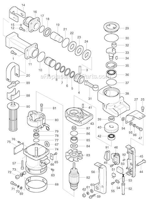 Mesin Hammer Demolition Hammer Makita Hm 1201 Hex 21mm Japan makita hm1201 parts list and diagram ereplacementparts