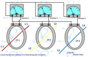 ct installation with ammeters for 3 phase system electrical tutorials urdu