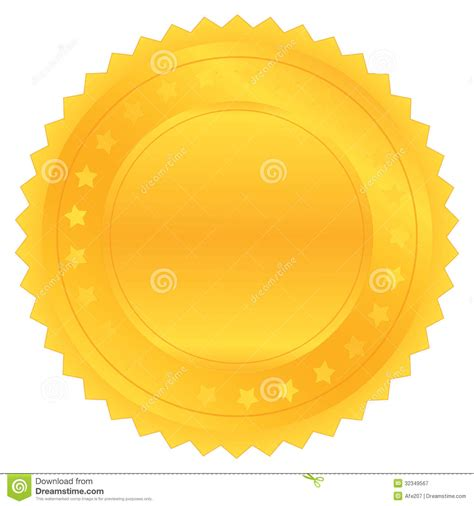 vector gold seal royalty free stock photography image